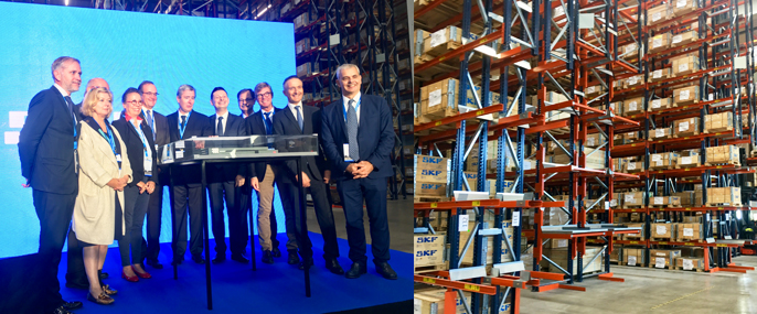 Cérémonie d'inauguration de la nouvelle plate-forme logistique de SKF à Saint-Cyr-sur-Loire